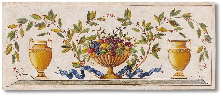 Cesto di frutta con anfore mariani affreschi shop for Fregi decorativi