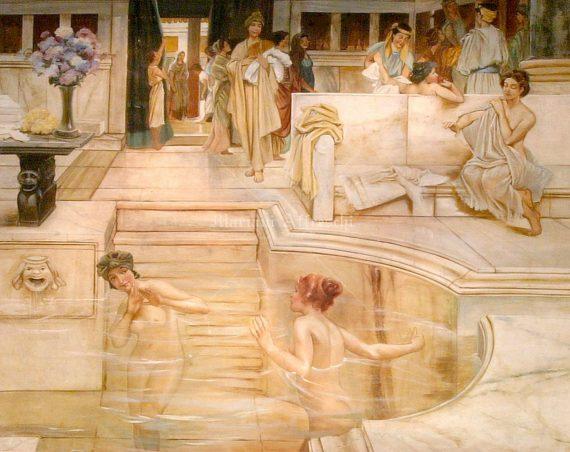Donne al bagno part alma tadema 1836 1912 - Ragazze spiate in bagno ...
